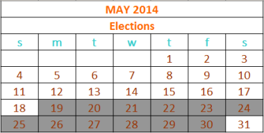2014 Elections calendar updated