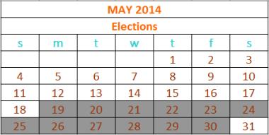 2014 Elections calendar updated