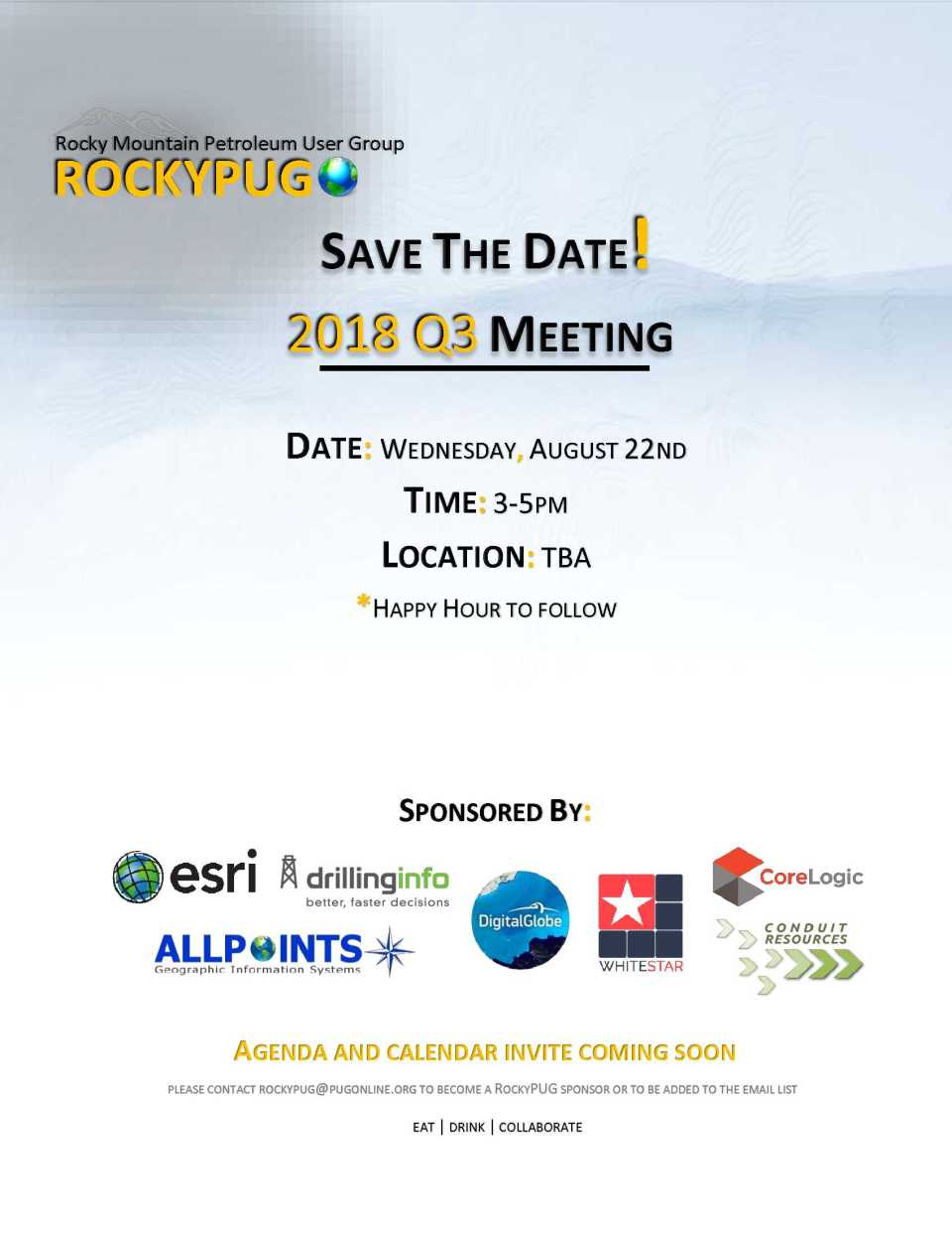 Save the Date Q3 2018